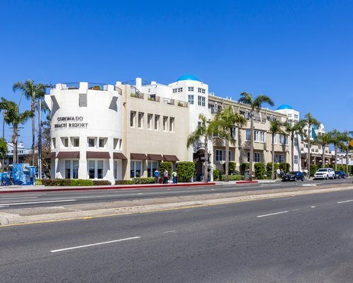 Street view of the Coronado Beach Resort.