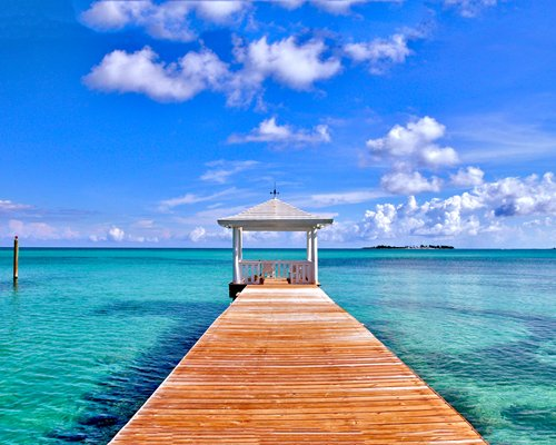 A pier on the Caribbean.