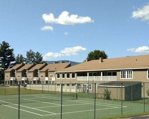 A resort tennis court.