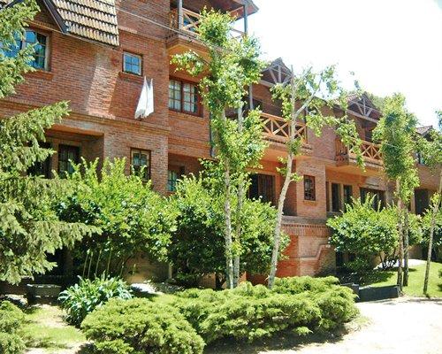 Exterior view of multiple unit balconies at Vacances Dorado.