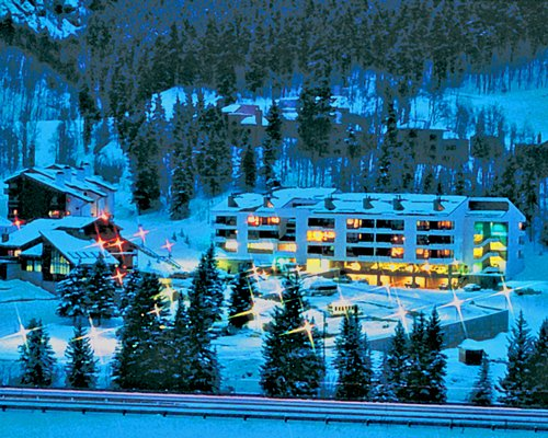 A scenic exterior view of Royal Holiday Stream Side At Vail Douglas covered by snow.