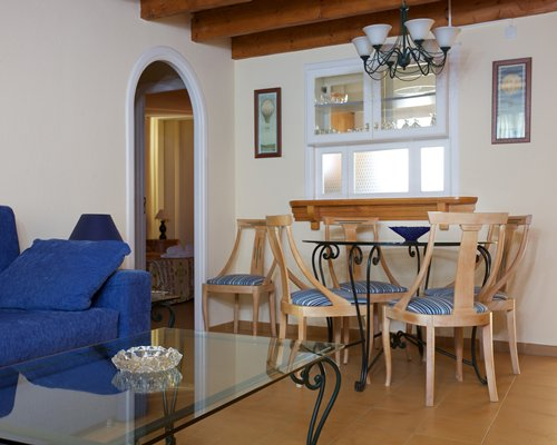 An open plan living room and dining area.