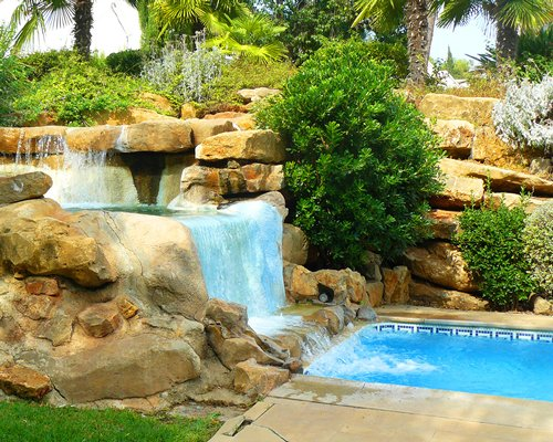 A scenic grotto pool.