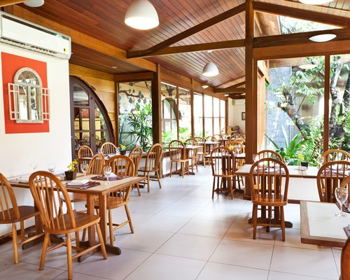 A scenic view of restaurant at Hotel Le Canton.
