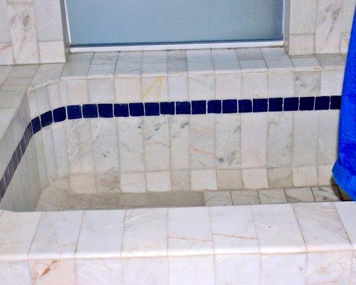 A granite bathtub.