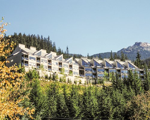 An exterior view of the WorldMark Whistler Sundance resort.