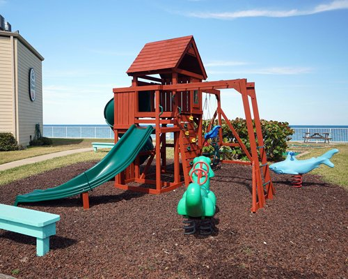 An outdoor children's playing area.