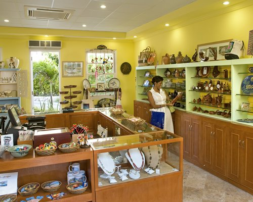 A well stocked shop at Crane Beach Resort.