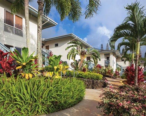 Scenic exterior view of units at Wyndham Bali Hai Villas.