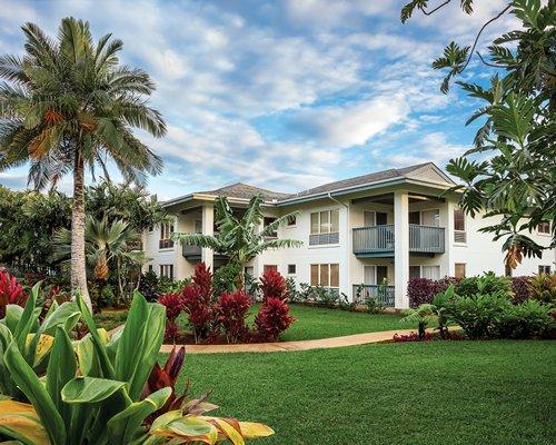 Scenic view of resort condos.