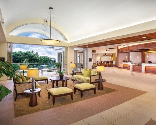 The reception area of the Wyndham Bali Hai Villas.