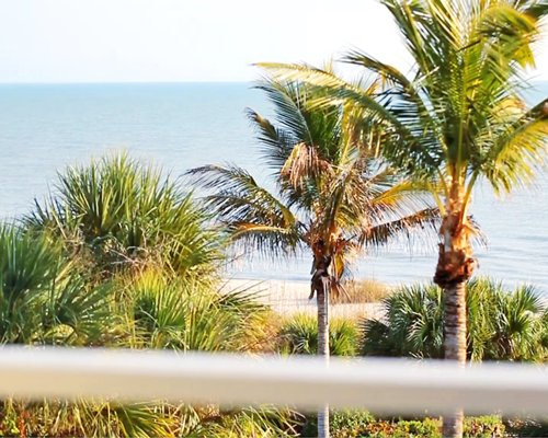 Scenic balcony view of the beach.