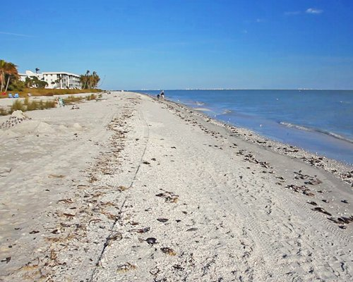 A beach at Sanibel Cottages Resort.