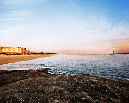 Exterior view of Kensington Resort Seorak Beach alongside beach and sea.