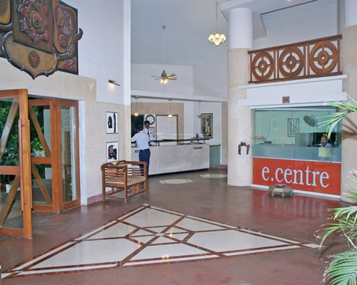 Reception area at Ras Resorts Silvassa.