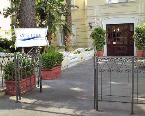 Entrance to a condo at Hotel Villa Igea.