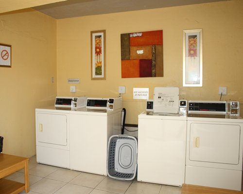 A common room with washing machines.
