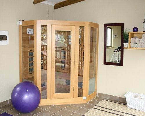 Indoor fitness room.