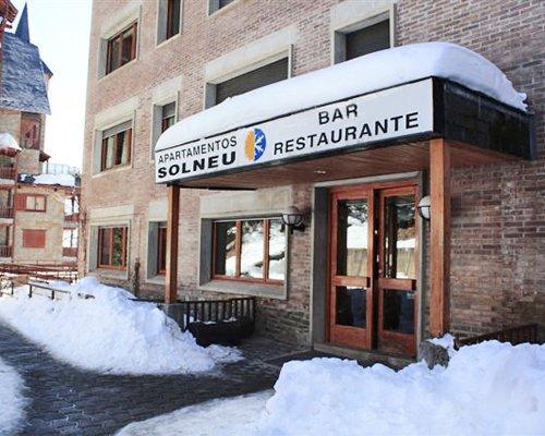 Entrance to a bar and restaurant at Sol Neu.