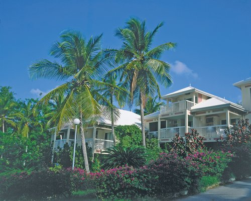 Scenic exterior view of multiple unit balconies at Diamant Beach Club.