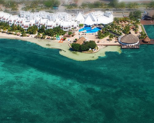 Aerial view of Sunset Marina Resort and Yacht Club.