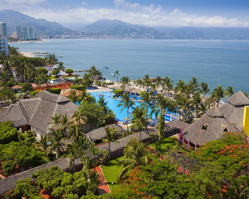 An aerial view of the Melia Puerto Vallarta.