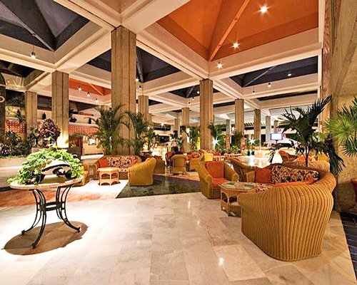 An indoor lounge area of the Melia Puerto Vallarta resort.