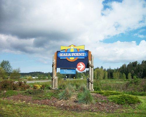 Signboard of Kala Point Village.