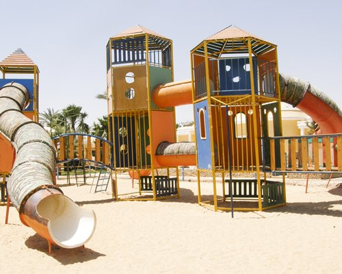 An outdoor playscape at Lillyland Beach Club.