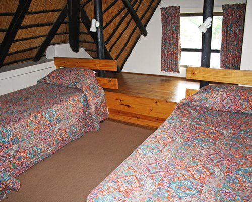 Bedroom with two twin beds.