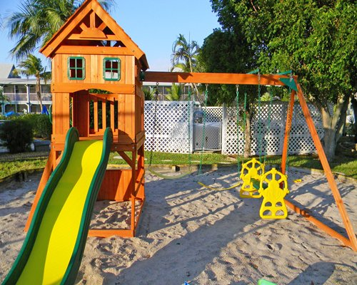 An outdoor childrens play area.