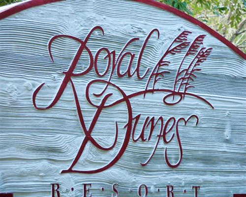 Signboard of Royal Dunes resort.