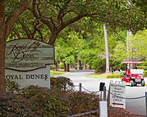 Signboard of Royal Dunes Resort.