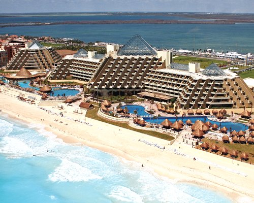 An aerial view of Mvc at Paradisus Cancun resort.