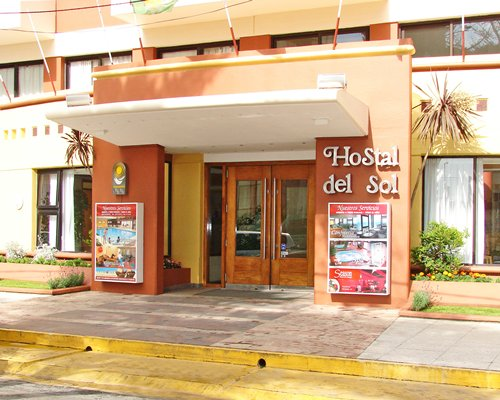 Entrance to Hostal del Sol.