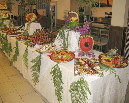 An indoor buffet.