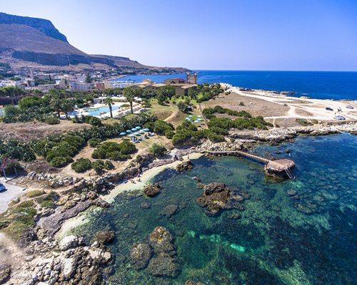 An aerial view of Tonnara Di Bonagia properties.