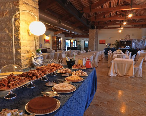 An indoor buffet.