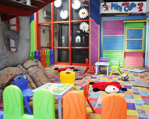 Indoor recreation room for kids.