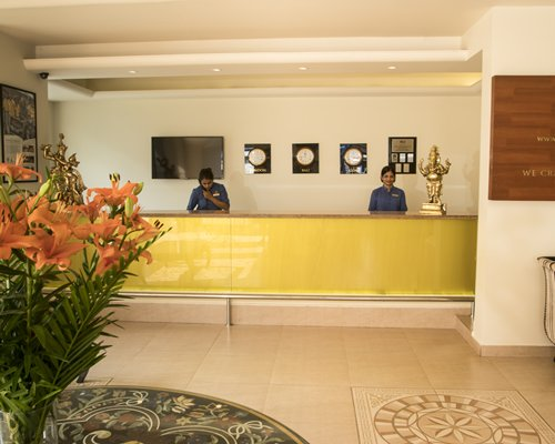 A well furnished reception area of the Karma Royal Palms resort.