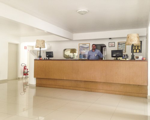 A well furnished reception area of Hotel Wembley Inn resort.