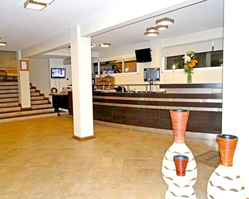 A well furnished reception area of the Medamar Club Apart resort.