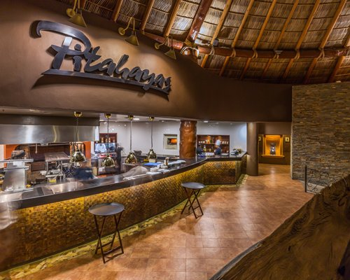 An indoor snack bar at the Hacienda del Mar Resort.