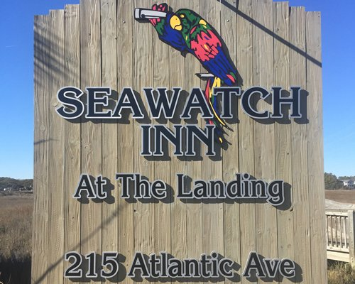 Signboard of the Taranova at Seawatch Inn resort.