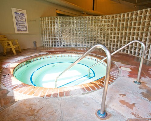 Indoor hot tub at Beachwoods.