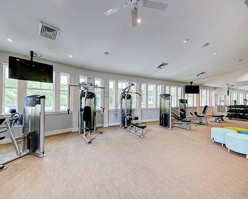 Indoor hot tub at Beachwoods.