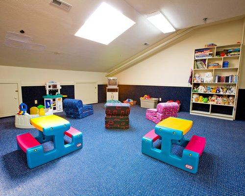 Indoor kids play area at Beachwoods resort.