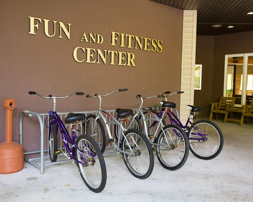 The resort's bicycle parking area.