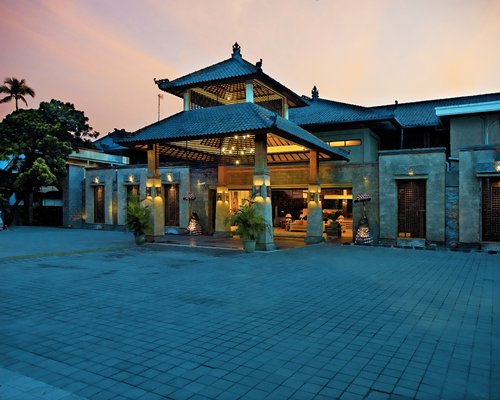 Dusk view of the Risata Bali Resort & Spa.