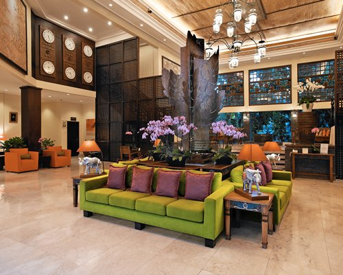 A well furnished indoor lounge area.